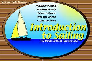 The main menu form the introduction to Sailing game.